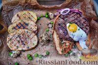 Фото к рецепту: Бифштекс из рубленой говядины