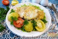 Фото к рецепту: Куриное филе, фаршированное шпинатом и сыром