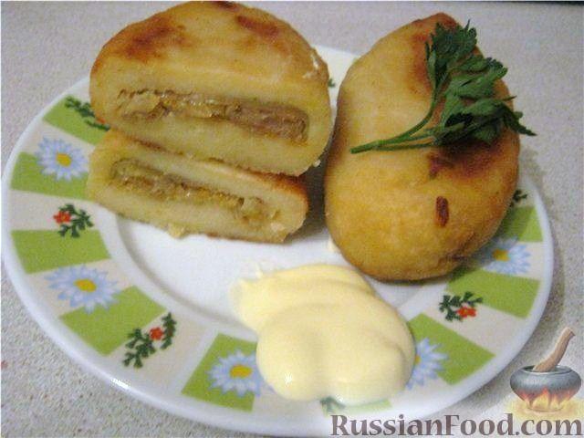 Рецепт Картофельные зразы с капустой постные