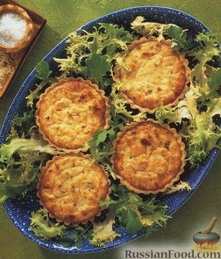 Рецепт Тарталетки с сырно-крабовой начинкой