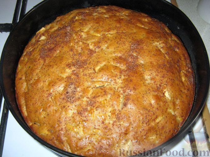 Рецепт Пирог постный яблочный