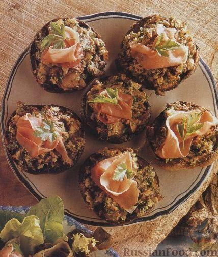 Рецепт Закуска из грибов, приготовленная в духовке