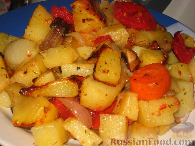 тушёная картошка с овощами рецепт с фото