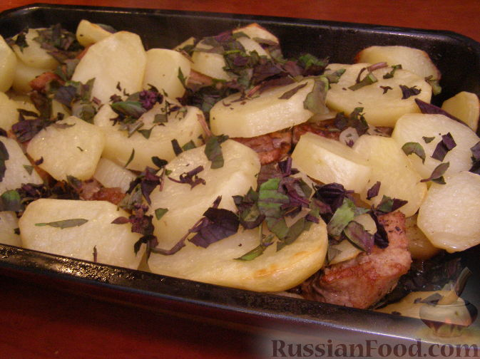 Рецепт Свиные ребрышки, запеченные в духовке