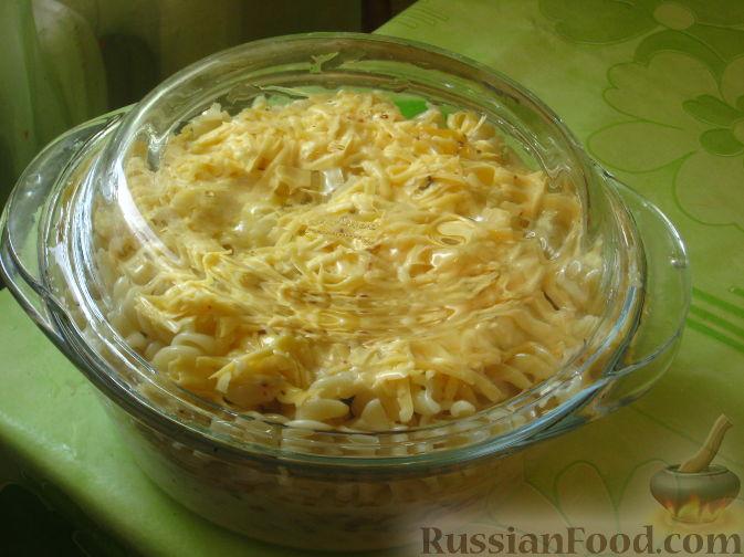 макароны с мясом и сыром в духовке рецепт