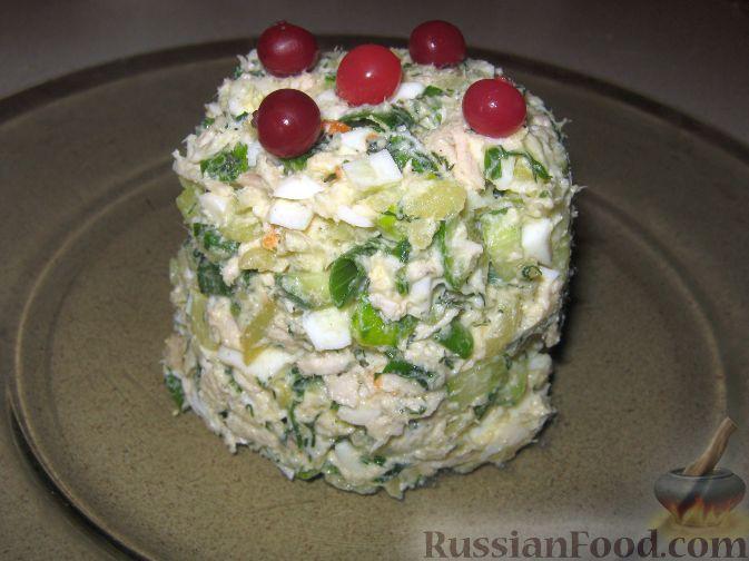 Рецепт Салат из курицы и огурцов