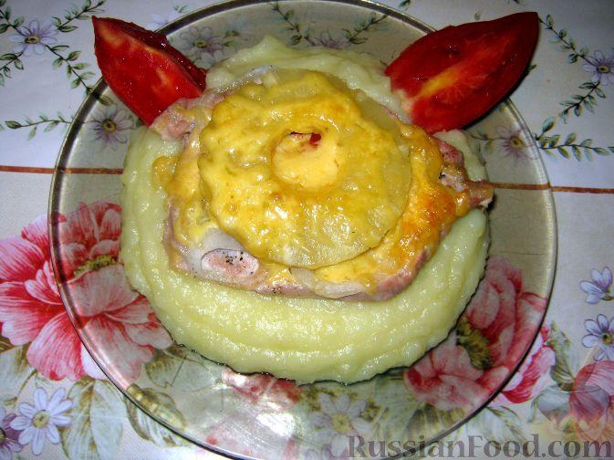 Рецепт Свинина с ананасами и сыром