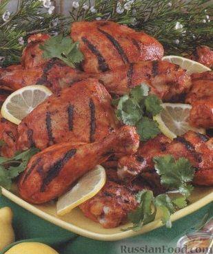 Рецепт Курица по-бомбейски, приготовленная на гриле