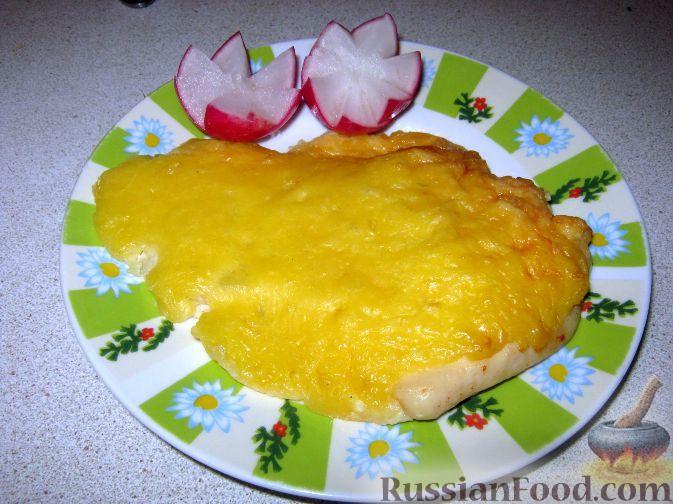 Рецепт Куриная отбивная, запеченная с сыром