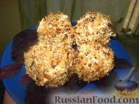 Фото к рецепту: Сырные шарики в ореховой крошке