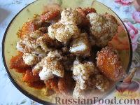 Фото к рецепту: Цветная капуста и морковь, жаренные в сухарях