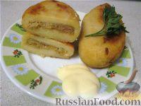 Фото к рецепту: Картофельные зразы с капустой постные
