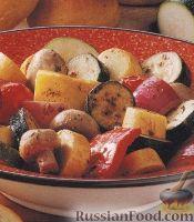 Фото к рецепту: Овощи и грибы, приготовленные на гриле