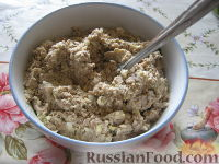 Фото к рецепту: Начинка для пирогов и пирожков из консервированной рыбы