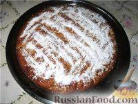 Фото к рецепту: Постный пирог с грушами и овсяными хлопьями