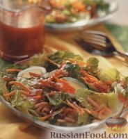 Фото к рецепту: Салат легкий с миндалем