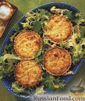 Фото к рецепту: Тарталетки с сырно-крабовой начинкой