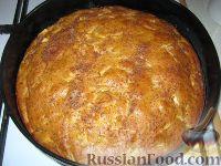 Фото к рецепту: Пирог постный яблочный