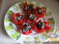Фото к рецепту: Фаршированные помидоры с брынзой и базиликом