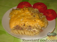 Фото к рецепту: Запеканка с макаронами и мясом