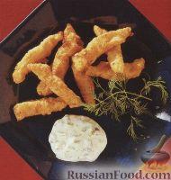 Фото к рецепту: Морская рыба, жаренная во фритюре