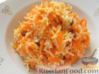 """Фото к рецепту: Салат """"Чистое здоровье"""" из моркови, яблок и изюма"""