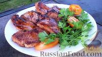 Фото к рецепту: Куриные отбивные в медово-горчичном маринаде