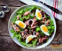 Фото к рецепту: Салат с рисом и тунцом