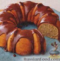Фото к рецепту: Банановый кекс с шоколадным кремом