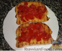 Фото к рецепту: Брускетта с помидорами