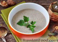 Фото к рецепту: Крем-суп с картофелем и грибами