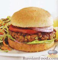 Фото к рецепту: Бургер с чечевицей