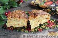 Фото к рецепту: Пирог из моркови, с яблоками