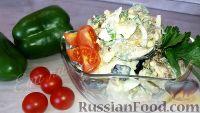 Фото к рецепту: Салат из жареных баклажанов