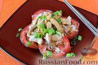 """Фото к рецепту: Японский салат """"Сябу-сябу"""" со свининой"""