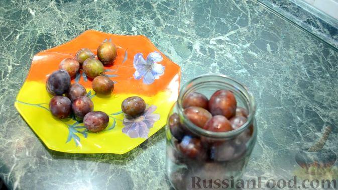 Фото приготовления рецепта: Пряные сливы (на зиму) - шаг №2