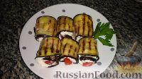 Фото к рецепту: Рулетики из баклажанов с сыром