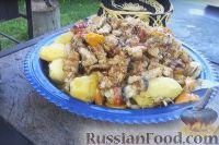 Фото к рецепту: Басма (мясо с овощами) в казане