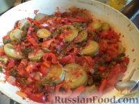 Фото к рецепту: Овощи, тушенные на сковороде