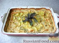 Фото к рецепту: Картофельная запеканка с грибами, в сливках
