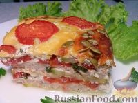 Фото к рецепту: Лазанья из кабачков