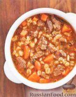 Фото к рецепту: Суп с говядиной и перловой крупой