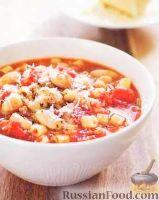 Фото к рецепту: Суп с макаронами и фасолью