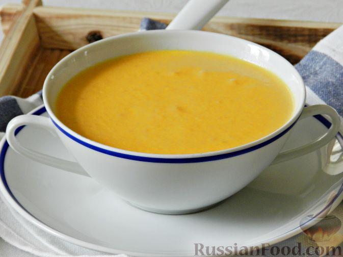 Фото приготовления рецепта: Суп-пюре из тыквы, с беконом и орехами - шаг №13