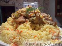 Фото к рецепту: Плов с курятиной и карри