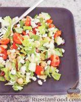 Фото к рецепту: Греческий салат с нутом
