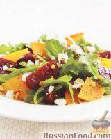 Фото к рецепту: Салат из свеклы, с козьим сыром