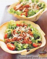 Фото к рецепту: Салат с индейкой, фасолью и овощами