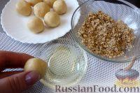 Фото приготовления рецепта: Песочное печенье с джемом и орехами - шаг №9