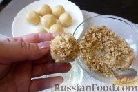Фото приготовления рецепта: Песочное печенье с джемом и орехами - шаг №10